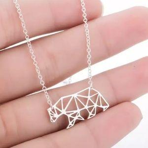 Jewelry - Geometric Bear Necklaces / Mama Bear Gold, Silver